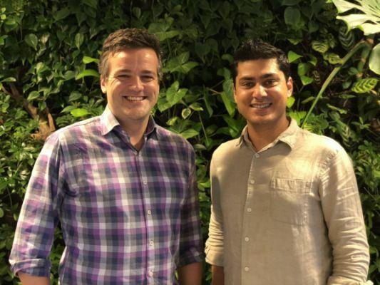 Từ trái sang phải:Dan Lynn vàVikram Malhi - hai nhà sáng lập startup Zuzu Hospitality. Ảnh:Zuzu Hospitality