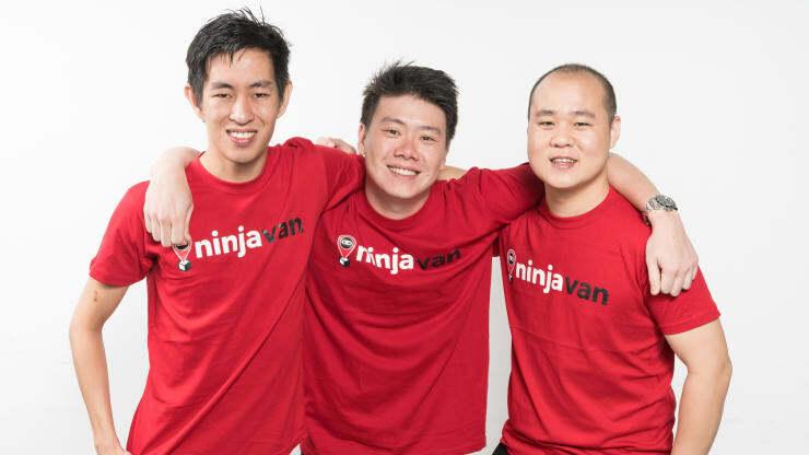 Đội ngũ sáng lập Ninja Van (từ trái qua phải):