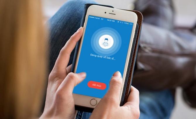 Ứng dụng eDoctor cho phép kết nối trực tiếp với các bác sỹ, nhận tư vấn, thăm khám sức khoẻ.
