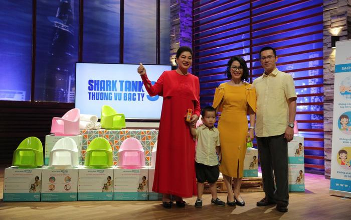 Gia đình anh Thắng và Shark Liên trong chương trình Thương vụ bạc tỷ.