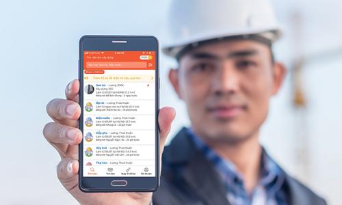 Ứng dụng tìm việc cho nhân sự ngành xây dựng