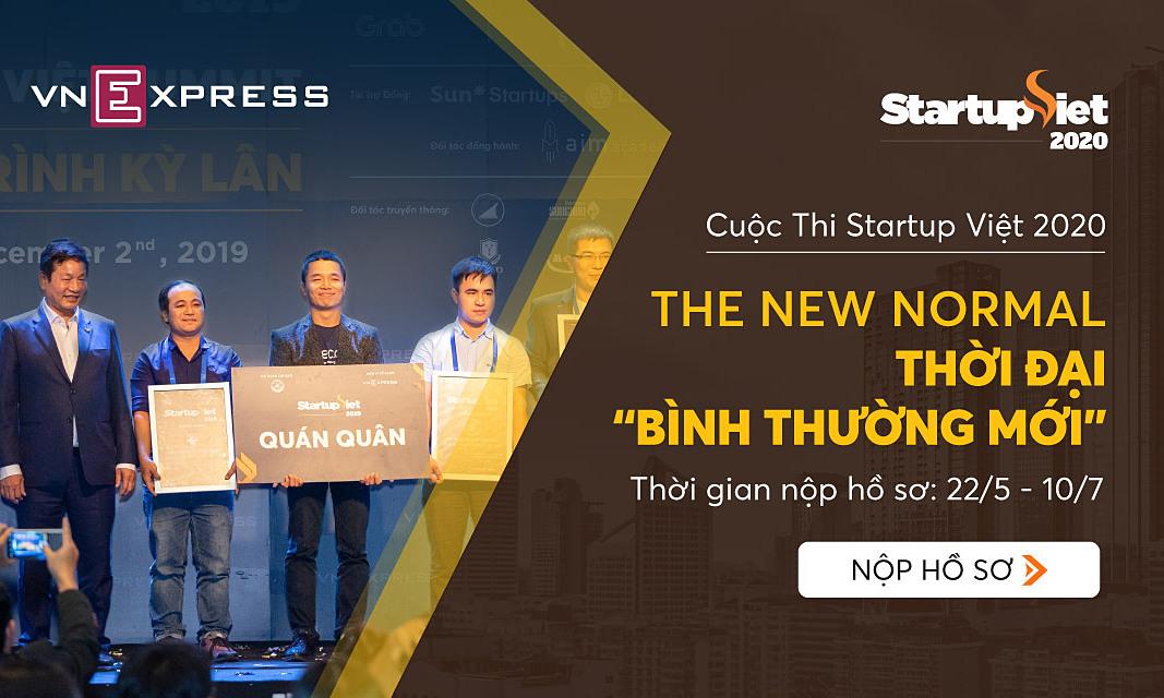 Chương trình bình chọn Startup Việt 2020 khởi động từ 22/5, nhận hồ sơ đến 10/7.