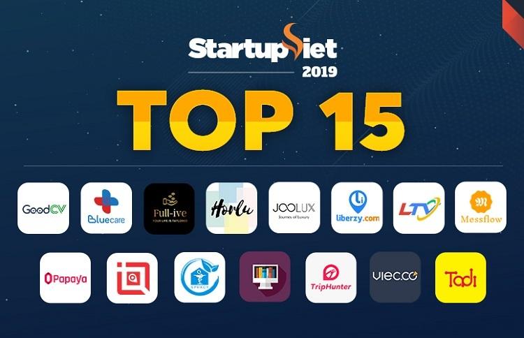 Danh sách Top 15 Startup Việt 2019.