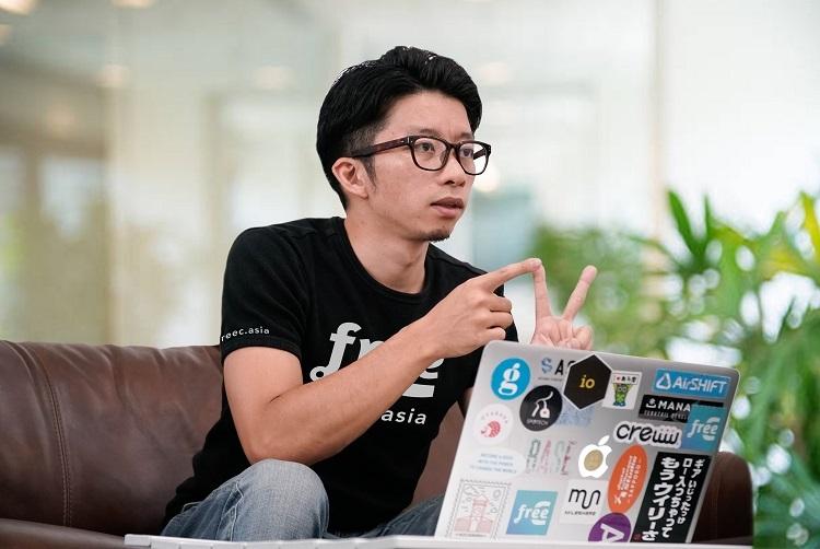 Nhà sáng lập, CEO freeC Kazuki Kunimoto.