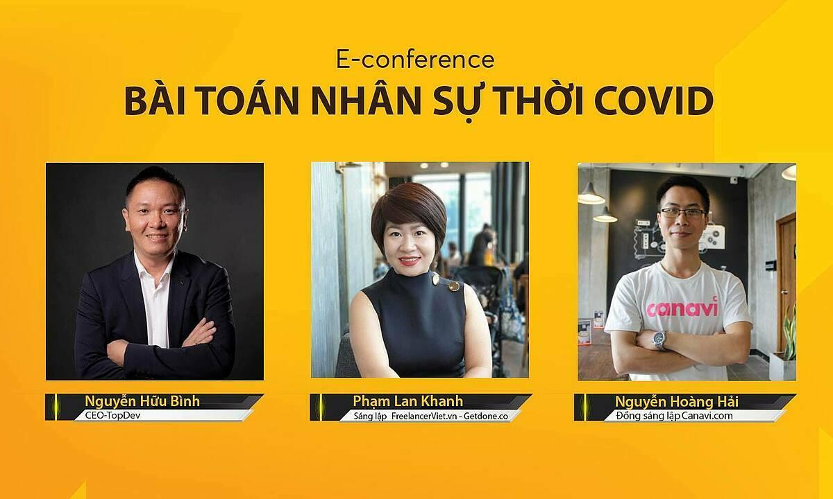 Các diễn giả tham dự tọa đàm trực tuyến Bài toán nhân sự cho startup.