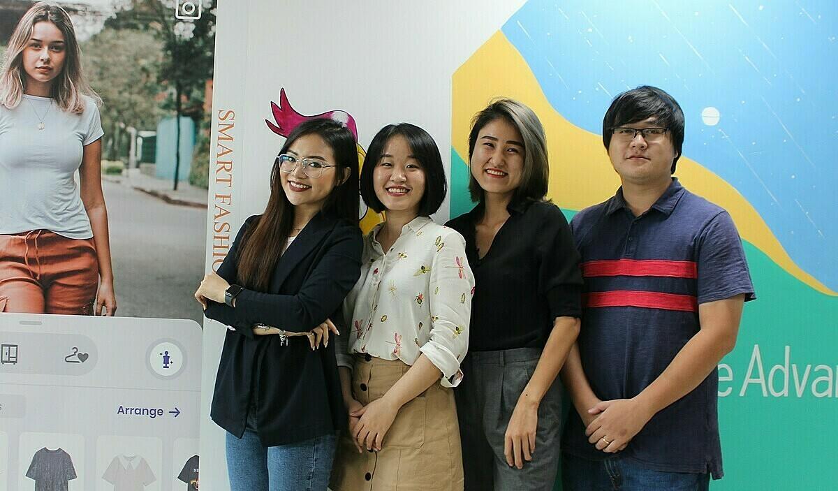 Nhóm sáng lập dự án Smart Fashion.