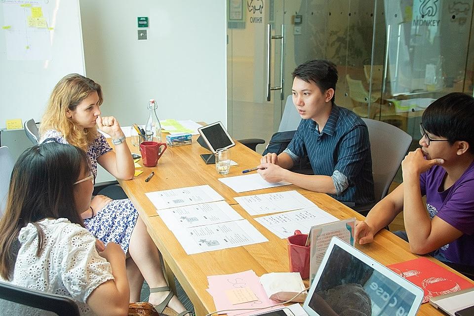 Các startup tham gia khóa huấn luyện 4 tháng tại ThinkZone Accelerator.