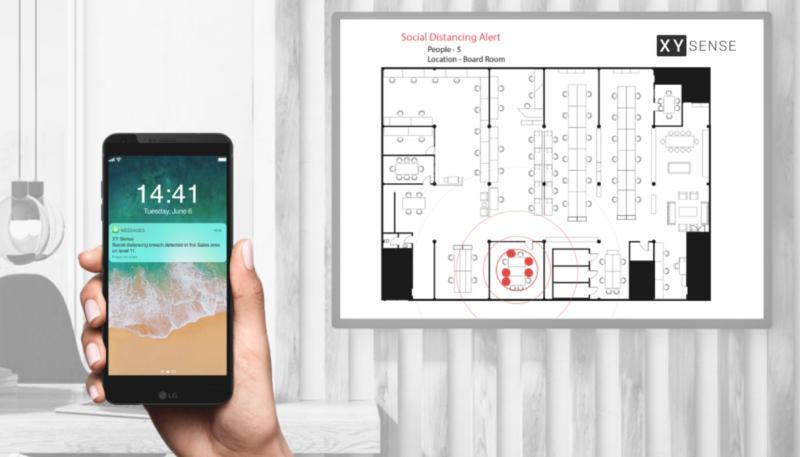 Startup XY Sense phát triển cảm biến phục vụ hoạt động giãn cách xã hội.
