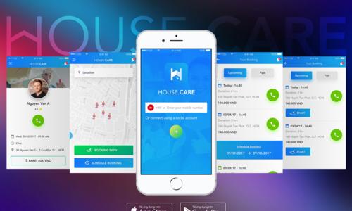 HouseCare - ứng dụng kết nối với người giúp việc nhà