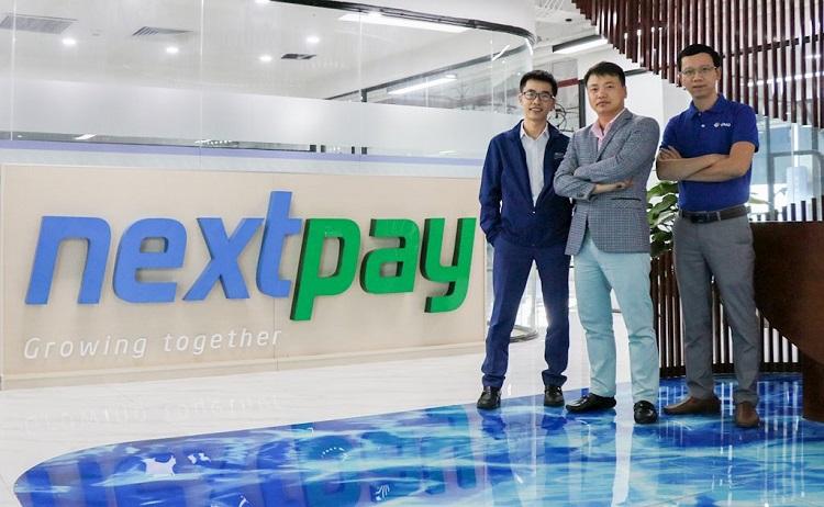 Từ trái qua: Nguyễn Hữu Tuất - CEO của NextPay, Nguyễn Hòa Bình - Chủ tịch NexTech, Đỗ Công Diễn - Giám đốc vận hành NextPay.