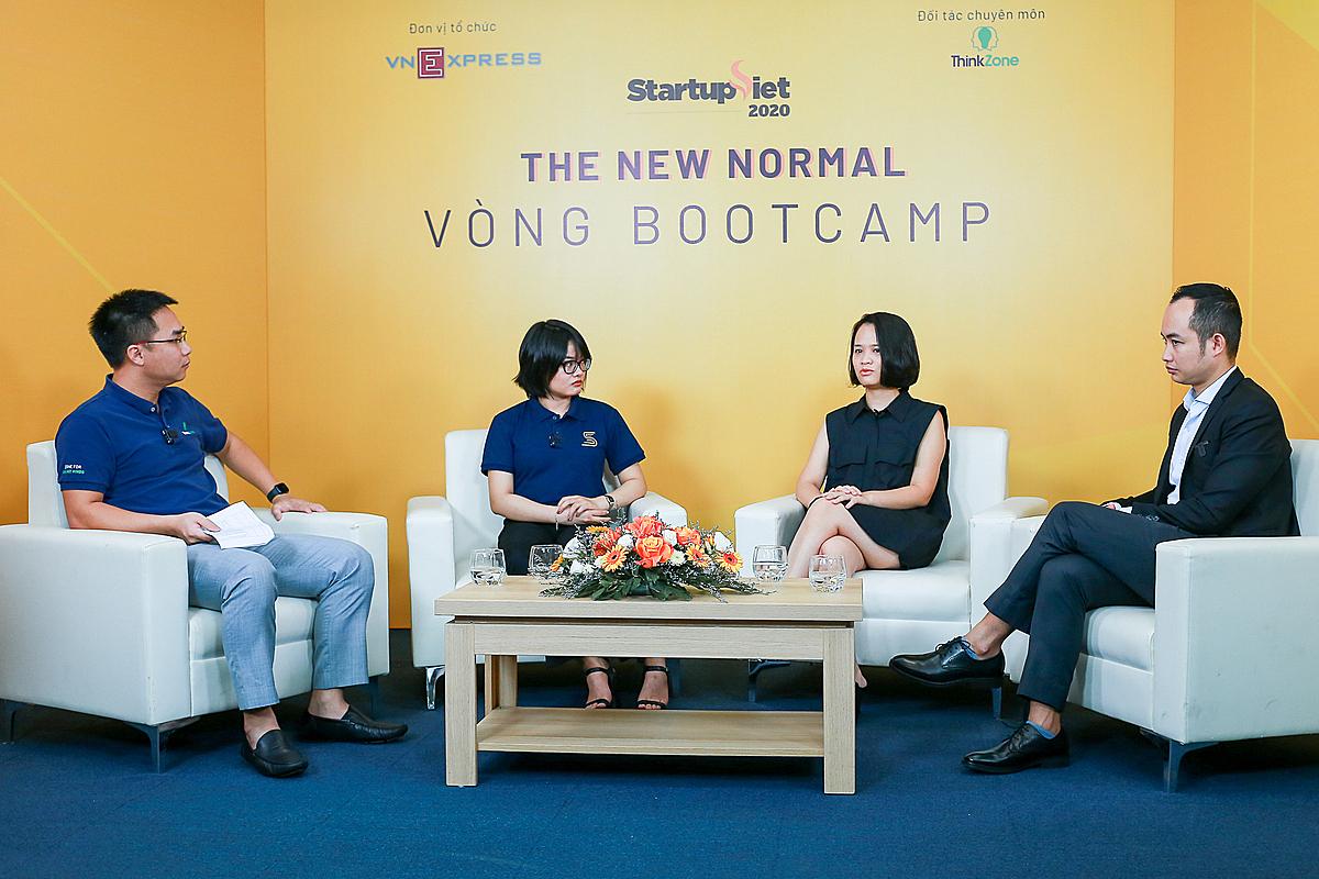 Nội dung đào tạo đầu tiên xoay quanh phiên thảo luận với chủ đề Các chiến lược gọi vốn và những vấn đề pháp lý cần lưu ý khi gọi vốn. Ảnh: Startup Việt 2020.