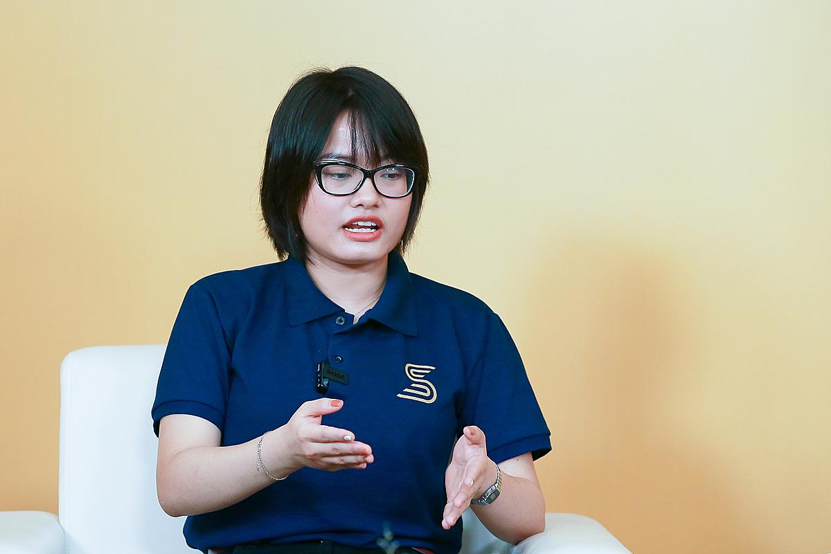 bà Chu Dương Hải Anh - Đồng sáng lập của SpaceShare. Ảnh: Thành Huế.