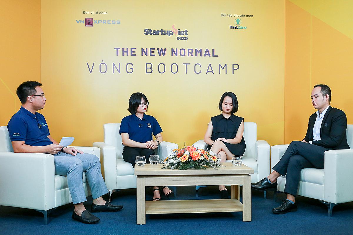 Nội dung đào tạo bootcamp về Chiến lược gọi vốn cho startup được tổ chức dưới hình thức phiên thảo luận. Ảnh: Thành Huế.