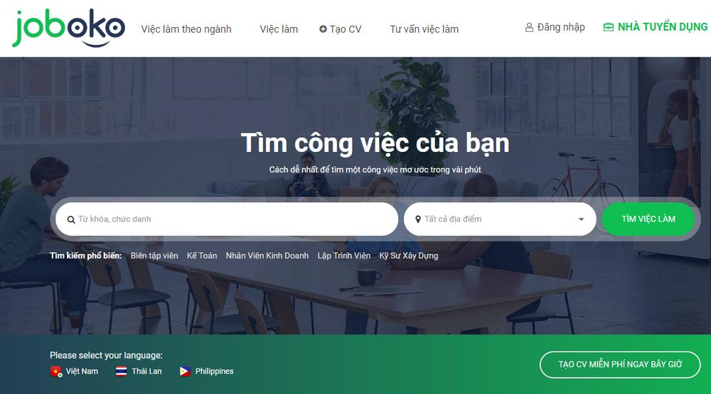 GoodCV.vn đã chính thức đổi tên thành Joboko.com. Ảnh: Tiến Sang.