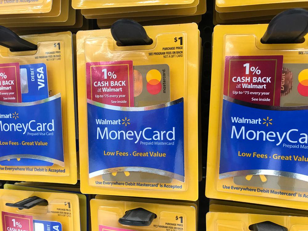 Thẻ ghi nợ trả trước của Walmart. Ảnh: MyBankTracker.