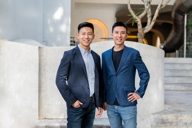 Đồng sáng lập Homebase - Phillip An (trái) và JunYuan Tan. Ảnh: Tech In Asia.