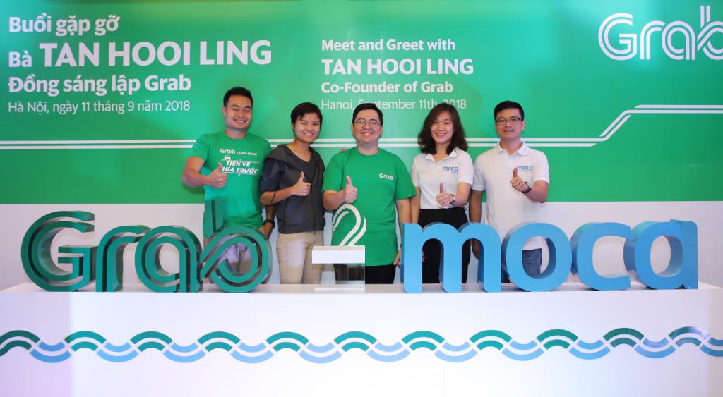 Grab hợp tác với công ty khởi nghiệp thanh toán kỹ thuật số Moca của Việt Nam. Ảnh do Grab và Moca cung cấp.