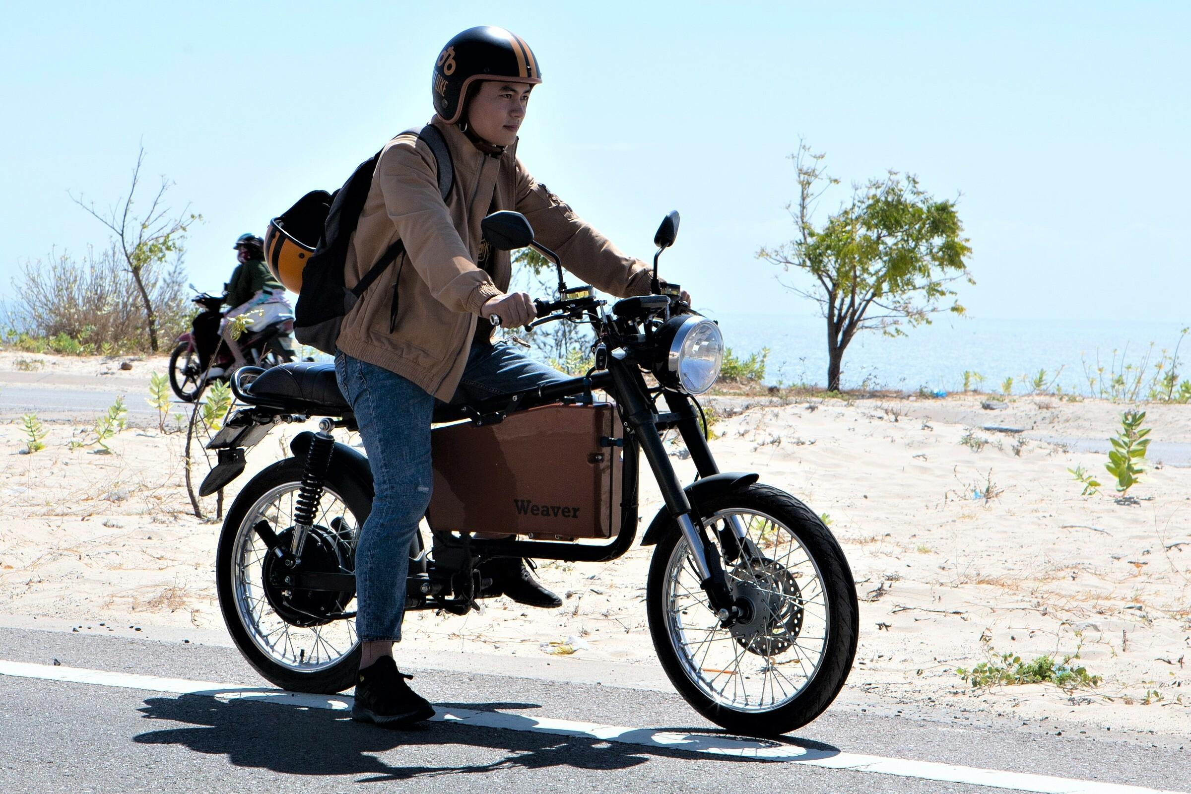 Mẫu xe máy điện đầu tiên của Dat Bike. Ảnh: Ny Bùi.