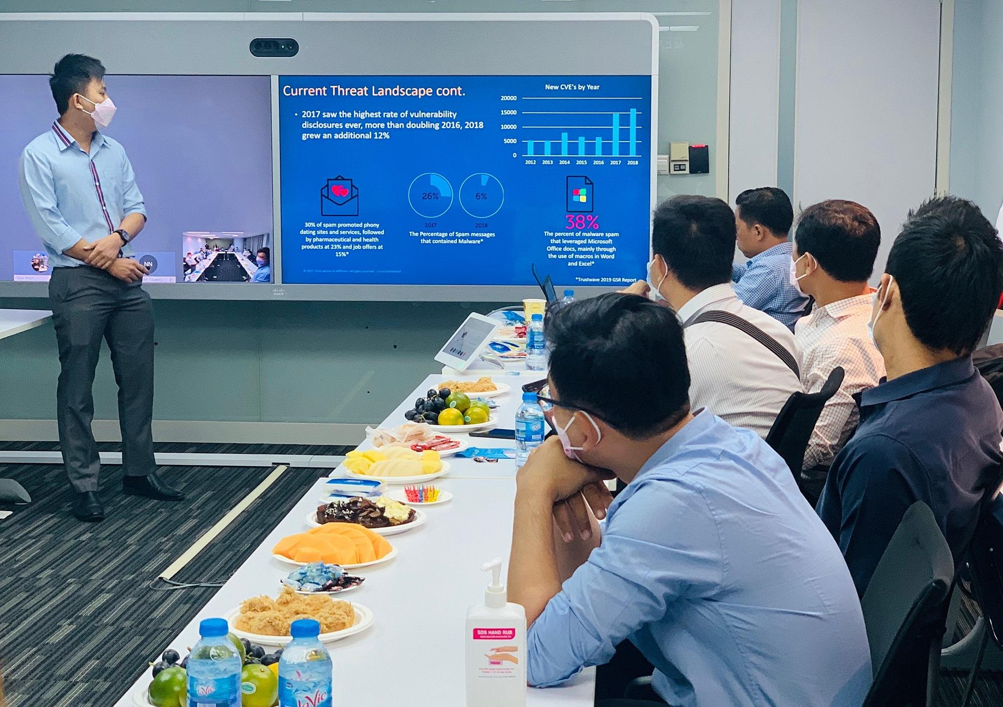 Một cuộc họp trực tuyến qua hệ thống của Ciso. Ảnh: Cisco Việt Nam.