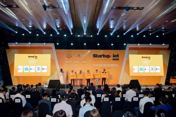 Năm 2020 đầy khó khăn nhưng cũng chứng kiến sự trỗi dậy của những startup đột phá về công nghệ, mô hình kinh doanh. Ảnh sự kiện Startup Việt 2020.
