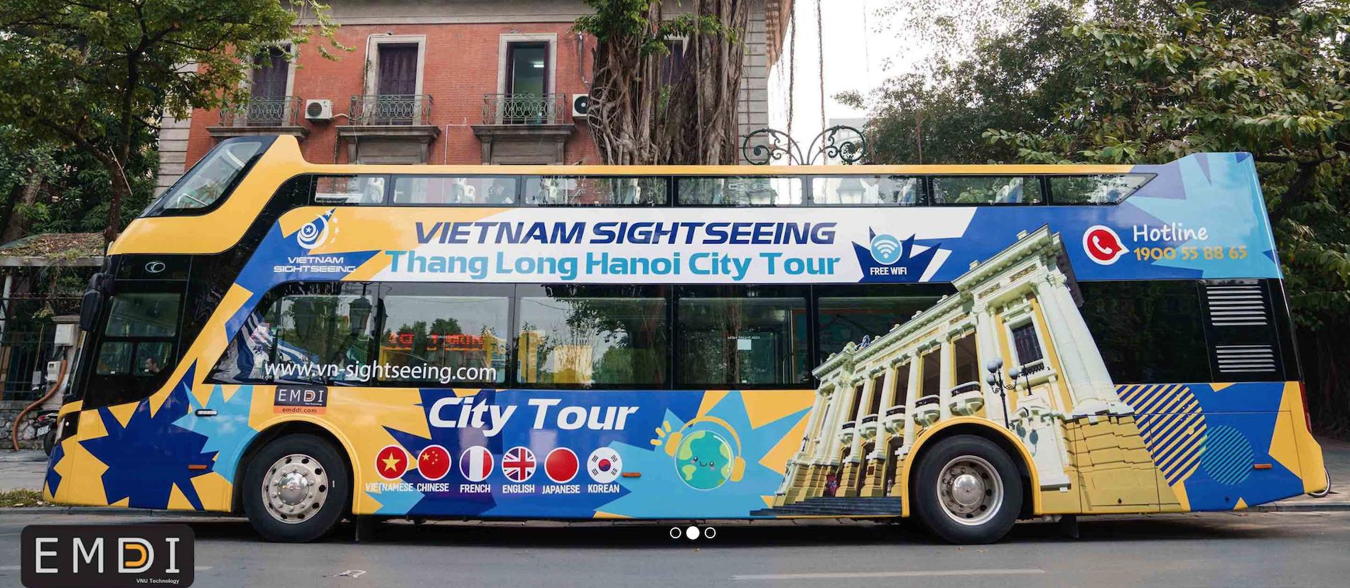 Đặt vé xe bus 2 tầng tại Hà Nội là một trong những dịch vụ của Emddi.