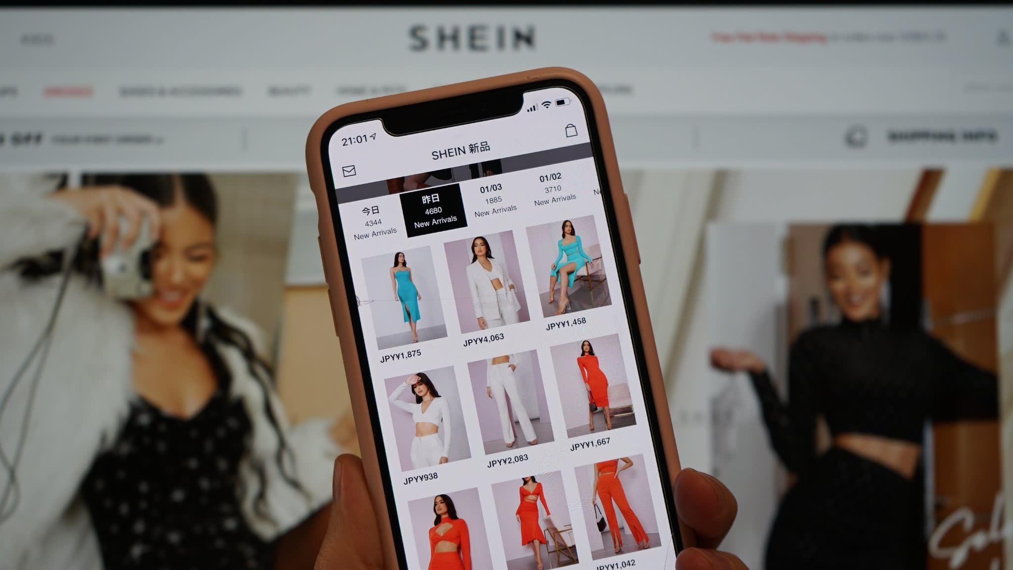 Giao diện chính của website Shein. Ảnh: Nikkei