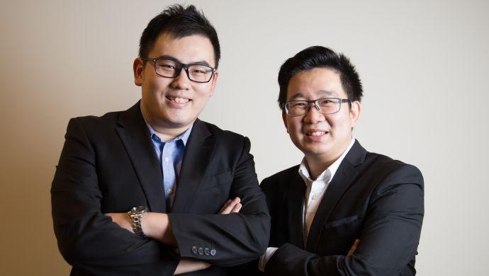 [Caption]Hai nhà đồng sáng lập iStore iSend. Ảnh: iStore iSend