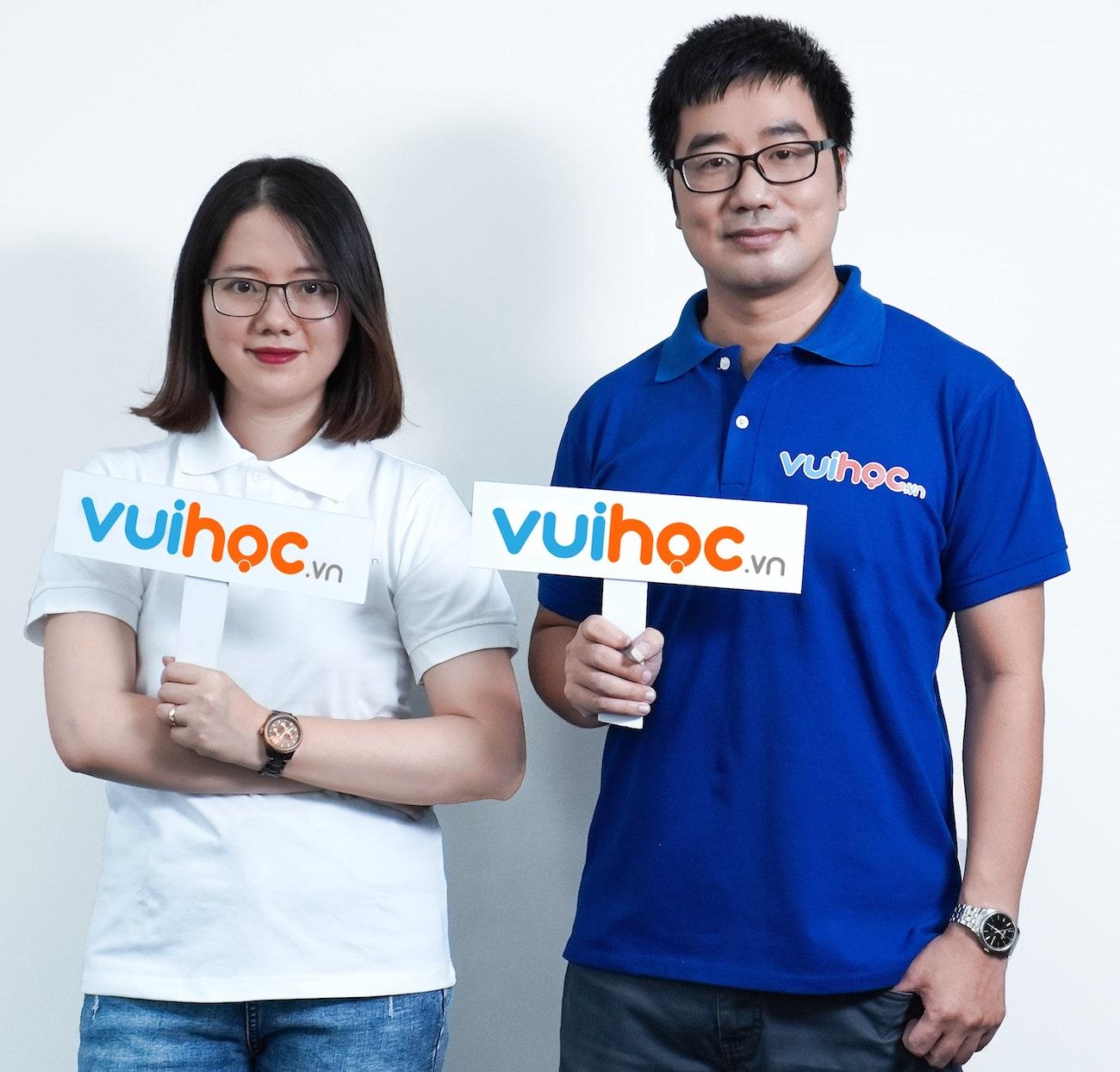 Hai nhà đồng sáng lập của VUIHOC là ông Đỗ Ngọc Lâm và bà Đỗ Minh Thu với nhiều năm kinh nghiệm trong phát triển hệ thống và quản trị doanh nghiệp