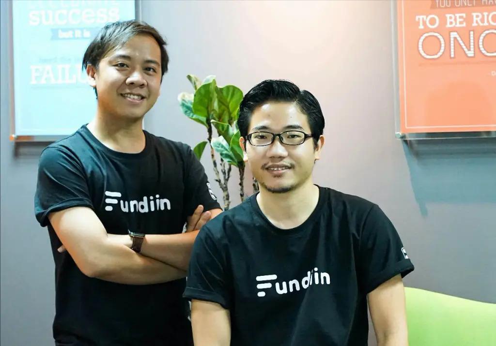 Hai nhà sáng lập Fundiin là Võ Hoàng Nam (trái) và Nguyễn Ảnh Cường. Ảnh: Fundiin