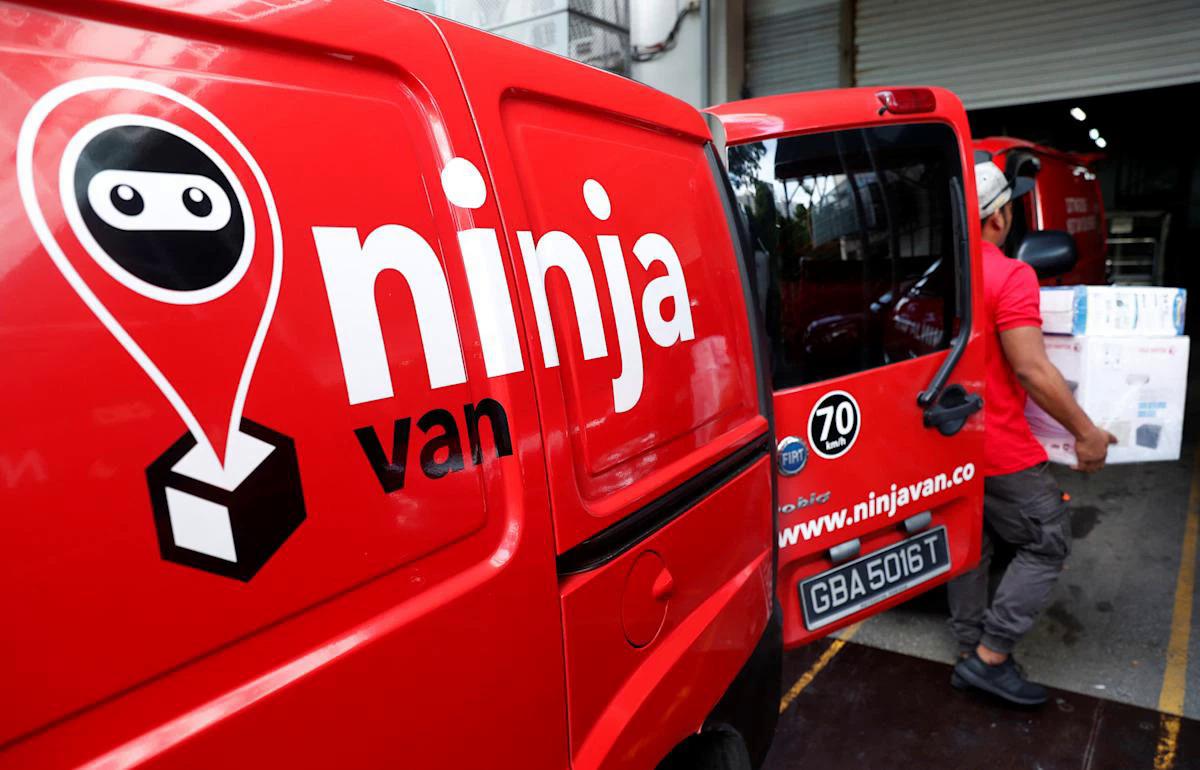 Một chuyến giao hàng của Ninja Van. Ảnh Yahoo.